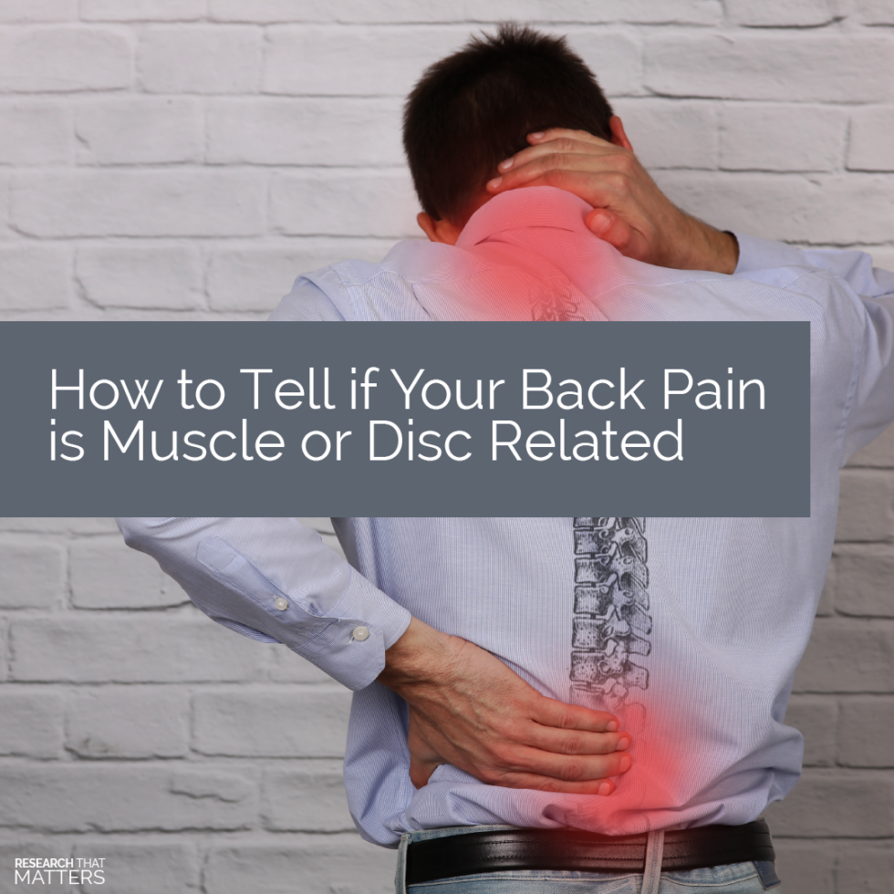 How to Tell if Your Back Pain is Muscle or Disc Related